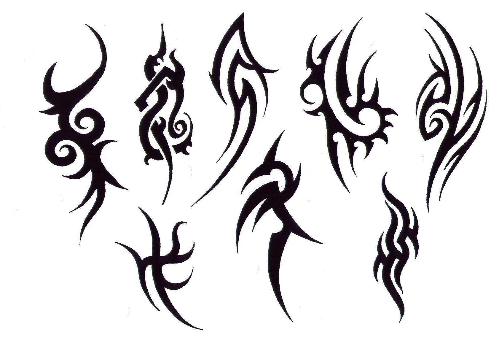 картинки черные маленькие тату