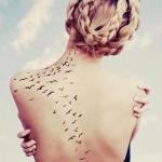 татуировка для девушки-маленькие птицы